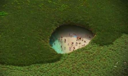 一个惊人的秘密海滩