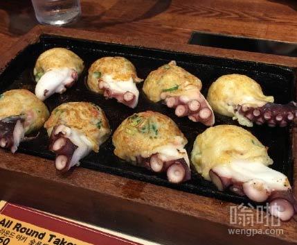 第一次吃章鱼小丸子