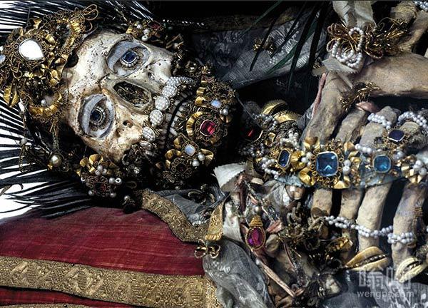 在罗马地下墓穴发现的骨骼