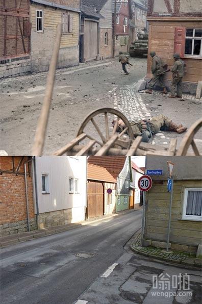 二战VS今天在德国一条街