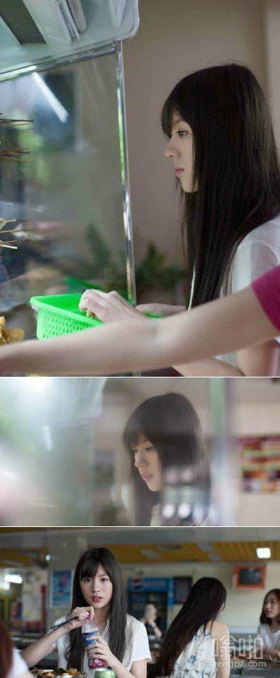 白衬衣女神吃麻辣谈走红 神似奶茶妹妹章泽天