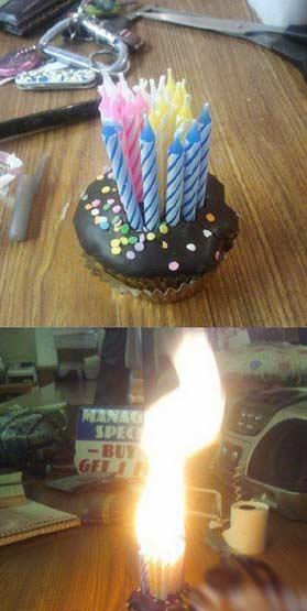 过生日不想浪费蜡烛