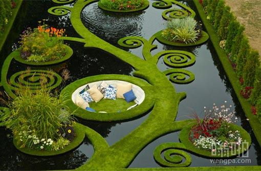漂亮的花园 希望这儿蚊子不多