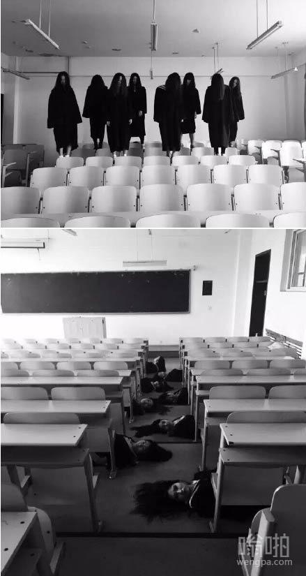 鬼片毕业照 女大学生拍这样灵异僵尸毕业照真的好吗