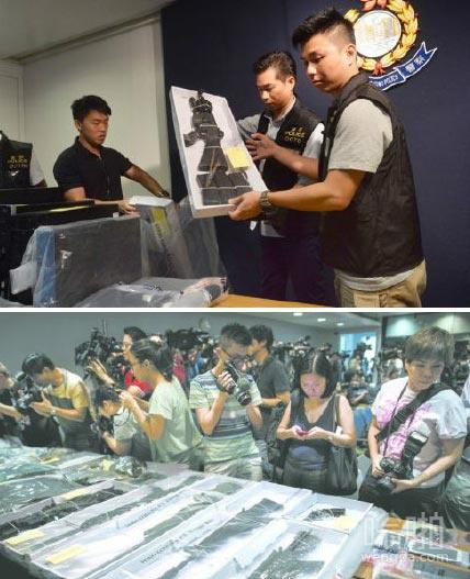 香港警方破获密谋爆炸案 缴获枪械炸药原料