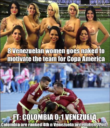 委内瑞拉女主播全裸激励国家队 黄健翔@刘语熙:你看看人家