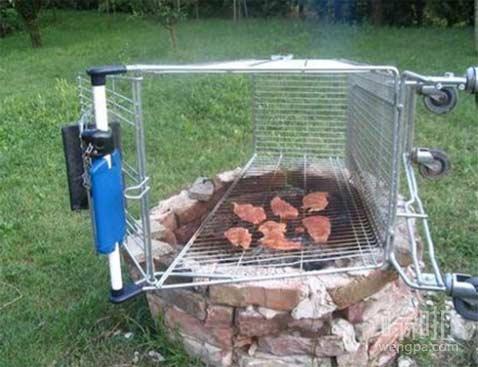忘了买烤肉架