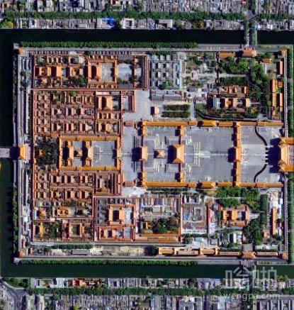北京,紫禁城俯瞰图