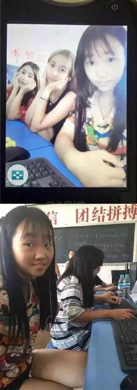 自拍神器坏之后 这妹子在班上就没朋友了