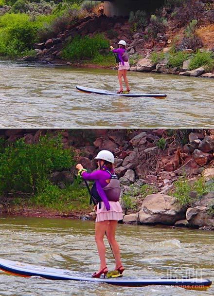 漂流科罗拉多河时 这个女人突然从我身边超过
