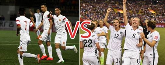 中国男足踢的过美国女足吗?