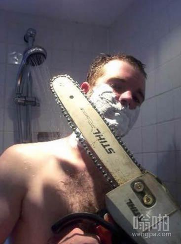 刮胡子日常