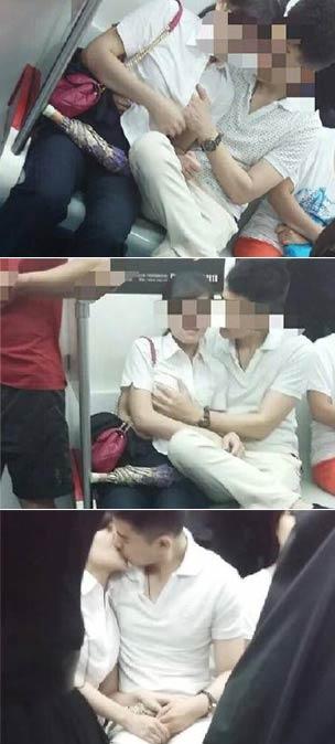沈阳地铁内男女当众摸胸接吻 三里屯优衣库试衣间那俩的事还没完呢