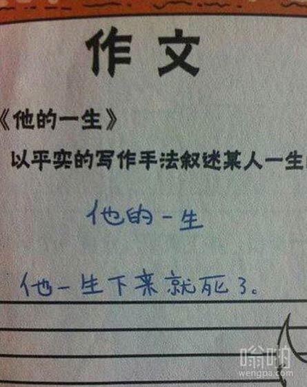 满分作文:他的一生