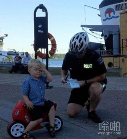 吓死宝宝了 居然被开了罚单