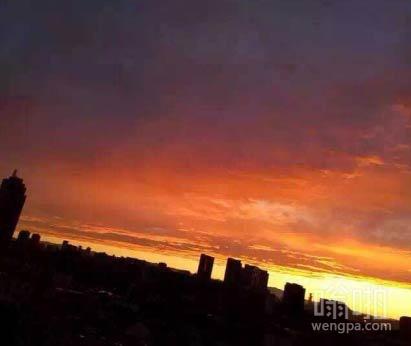 北京天空现大彩虹火烧云奇观 恍如末世