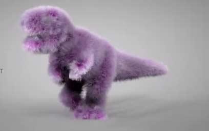 可爱的紫色毛绒霸王龙