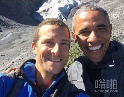 视频:贝尔搭档奥巴马在阿拉斯加录制《荒野求生》
