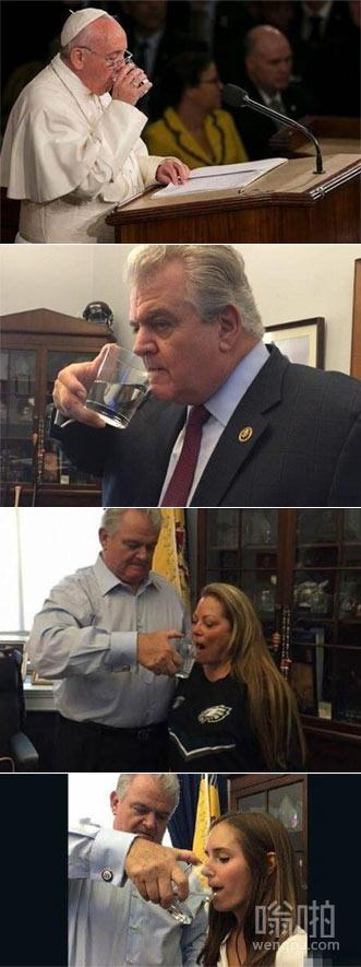 美议员偷走教皇水杯 偷水杯也不是一次两次了