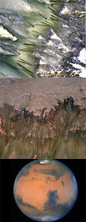 NASA宣布火星上发现液态水 或有外星生物
