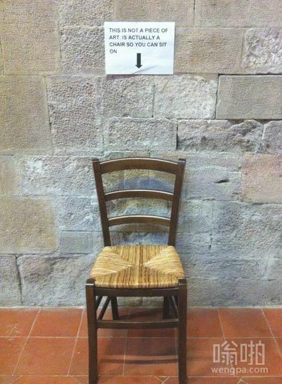 艺术展上这把椅子不是展品一定要说明