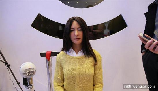 美女机器人 能看出这美女是机器人么