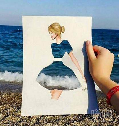 海洋连衣裙