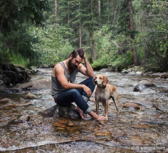 一组狗狗跟着主人去旅行的照片 太唯美了(6)