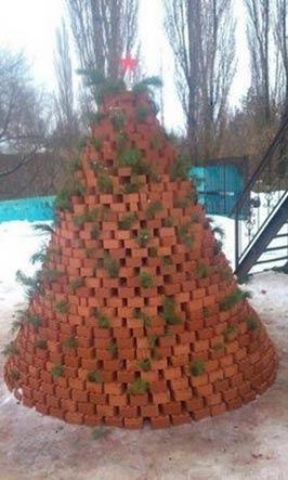 红砖圣诞树