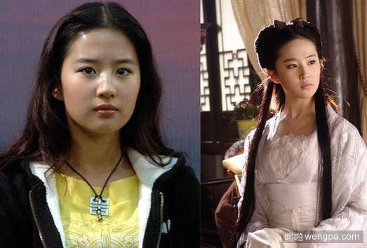 刘亦菲整容前后对比照片