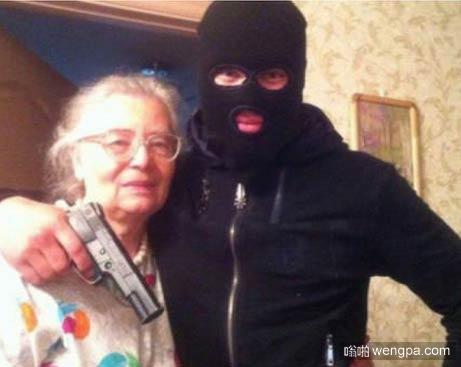 这样跟奶奶合影好吗
