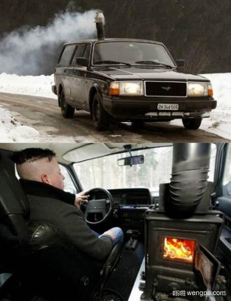 车的暖气系统坏了 哥们自己做一个