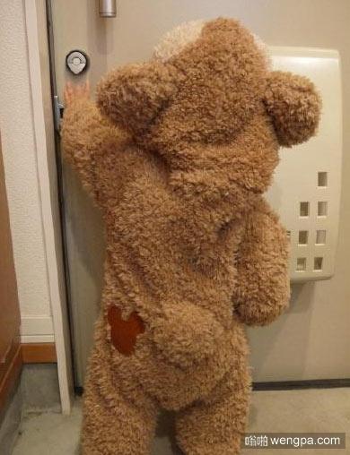 娃娃穿的小熊连体童装,小熊宝宝满地跑 附淘宝链接哦