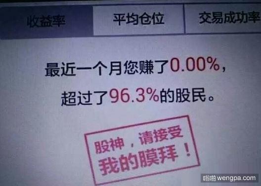 最近炒股赚钱超过了93%的人
