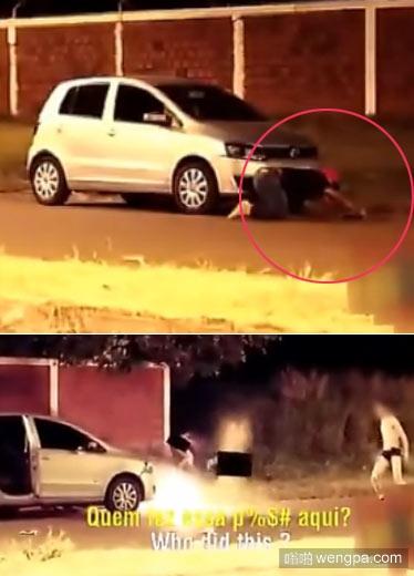 【搞笑视频】车震遭遇骚年放鞭炮恶搞  - 嗡啪搞笑视频
