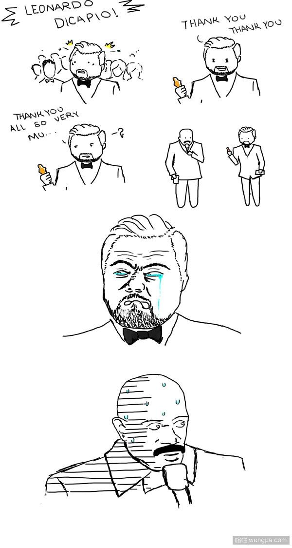 莱昂纳多·迪卡普里奥的噩梦_搞笑漫画_奥斯卡 - 嗡啪搞笑图片