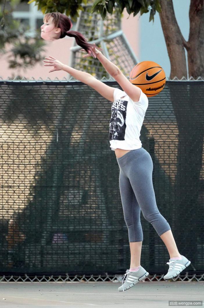 詹妮弗·劳伦斯打篮球 惨遭网友ps恶搞