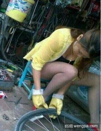 每个星期我都会把我的车胎扎破
