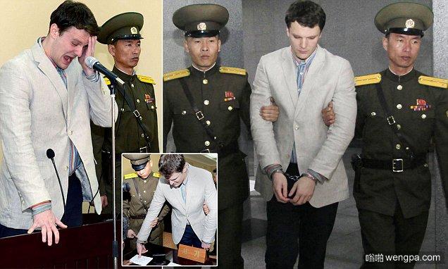 玩大了:美国21岁大学生在朝鲜酒店偷政治条幅 被判服15年苦役