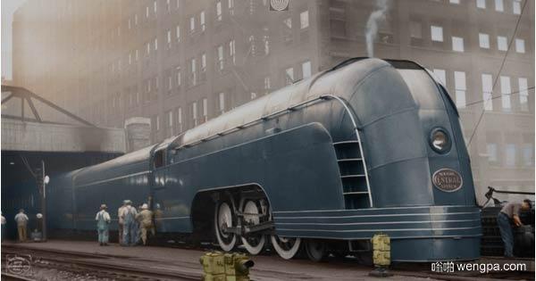 """Mercury(水星)""列车在芝加哥,1936年的照片,而不是插图"