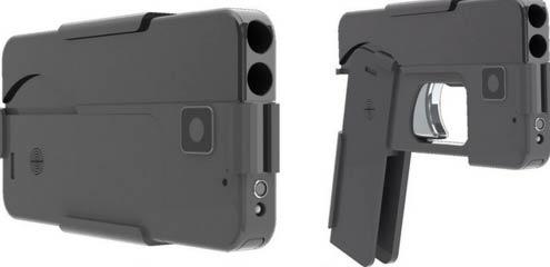 手机手枪 貌似还能自拍?