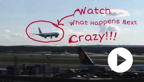 【搞笑视频】这是一个惊人的飞机降落 吓惨了 - 嗡啪搞笑视频