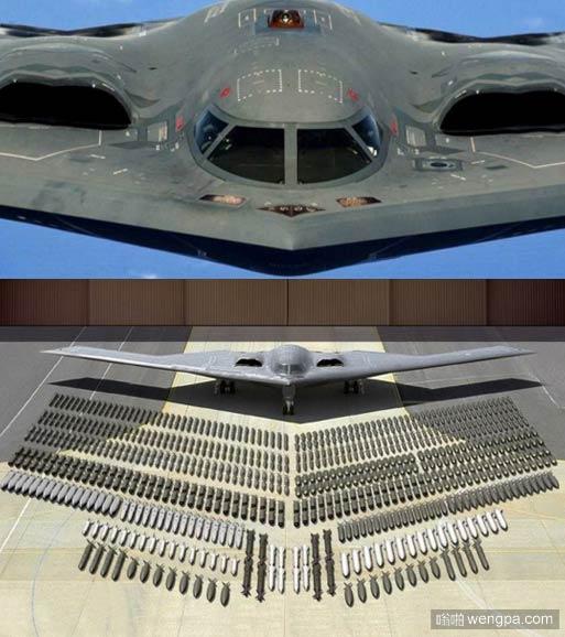 """B-2""""幽灵""""隐形轰炸机装弹量 美国B-2轰炸机价格 - 嗡啪军事"""