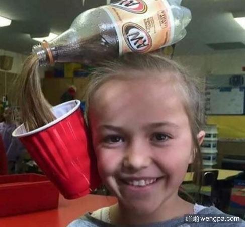 疯狂发型日:可乐发型 毫无违和感啊