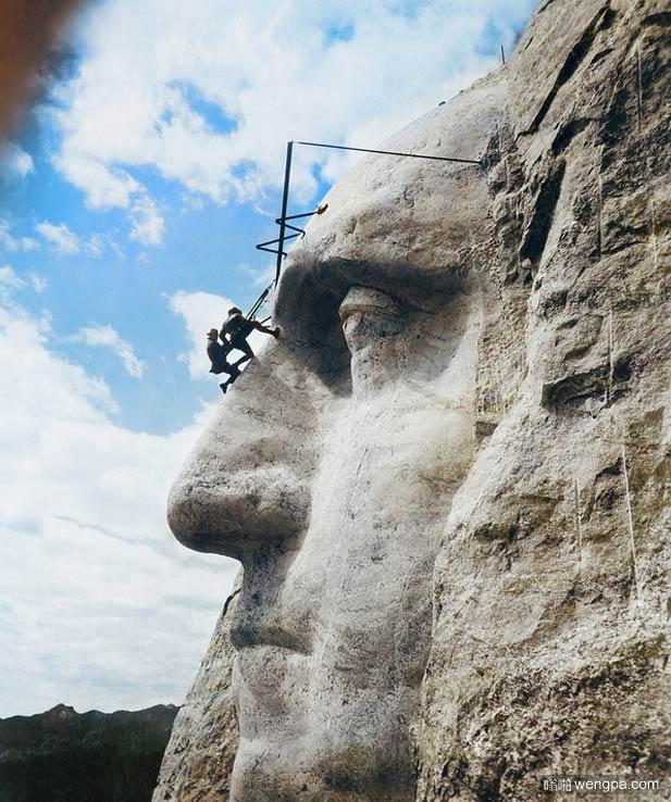 华盛顿石像