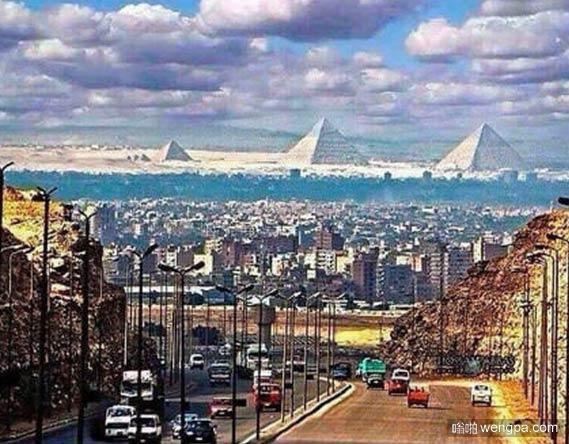 远眺埃及金字塔