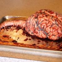 恐怖蛋糕图片:大脑