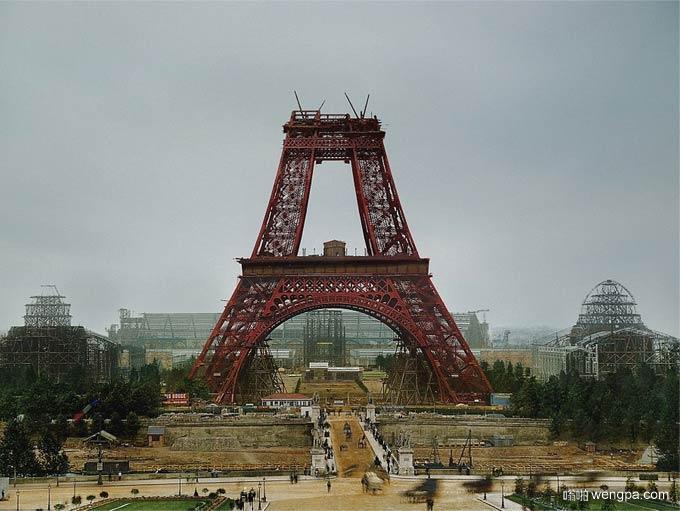 从金门大桥到艾菲尔铁塔 给最著名的景点建设初期照片上色