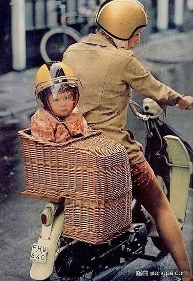 以前的婴儿座椅