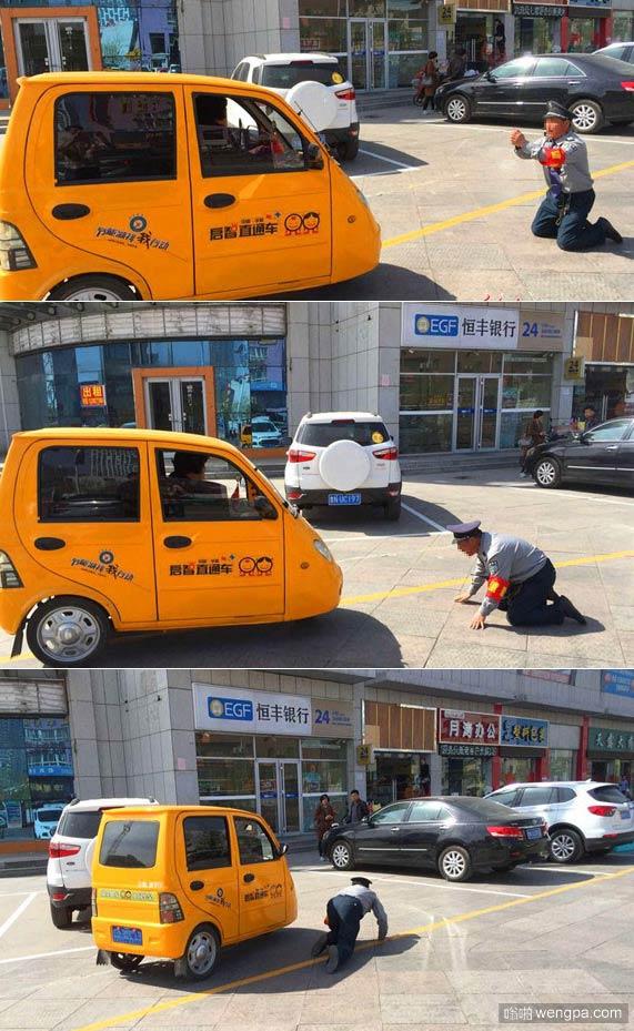 保安跪求市民不要停车 保安也不容易啊
